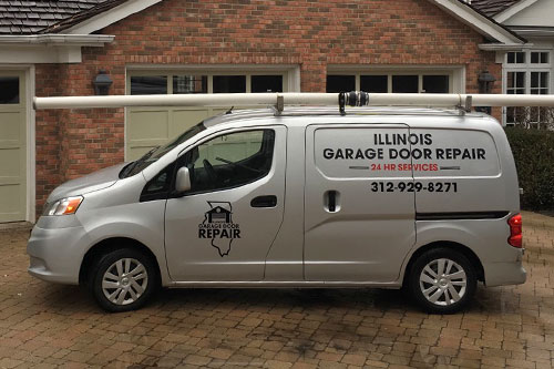 Residential garage door repair service